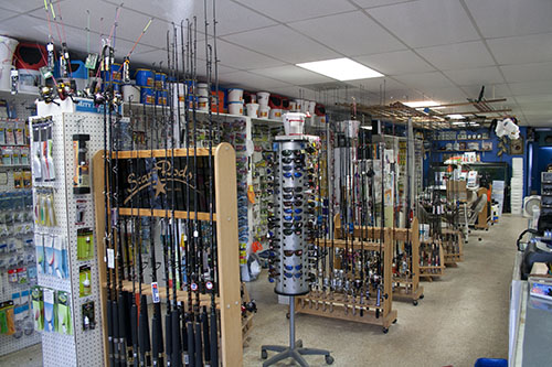 fishing equipment with fishing tackle and bait at fishing store in, Hard Baits