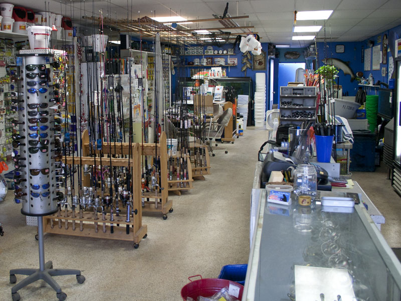available at fishing store are reel repairs or rod repairs